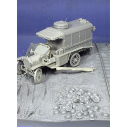 Ambulance WWI diorama