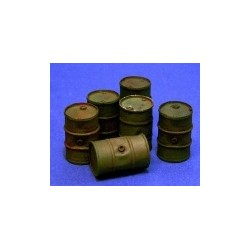 Oil drums n 2 (6 pieces)
