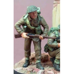Infantryman with rifle at the ready