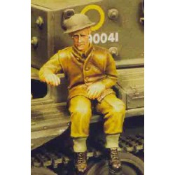 Soldier seated