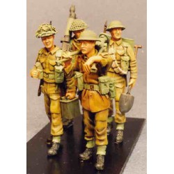 Vickers and  infantry crew marching order