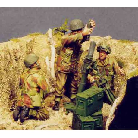 UK 3inch mortar and  airborne crew