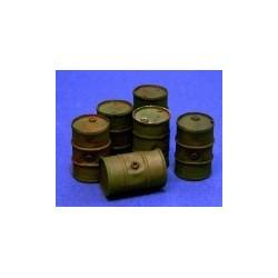 Oil drums n 2 (6 pieces)