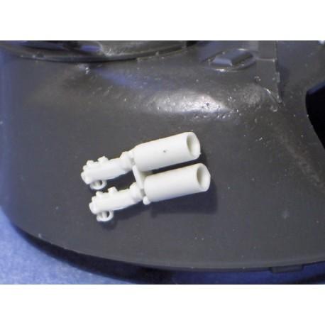 Sherman turret smoke bomb throwers