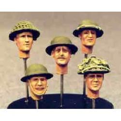 5 UK heads  helmets  n 2