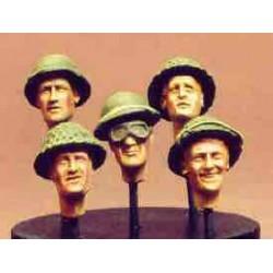 5 UK heads  helmets  n 1