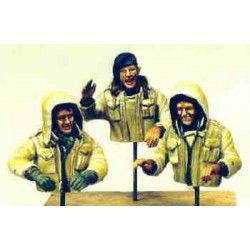 British tank crew, winter, 1944