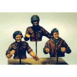 British tank crew, summer, 1944