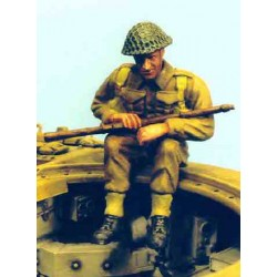 UK soldier seated