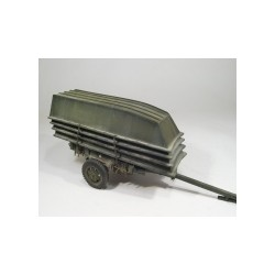 Two wheel utility trailer and assault boats